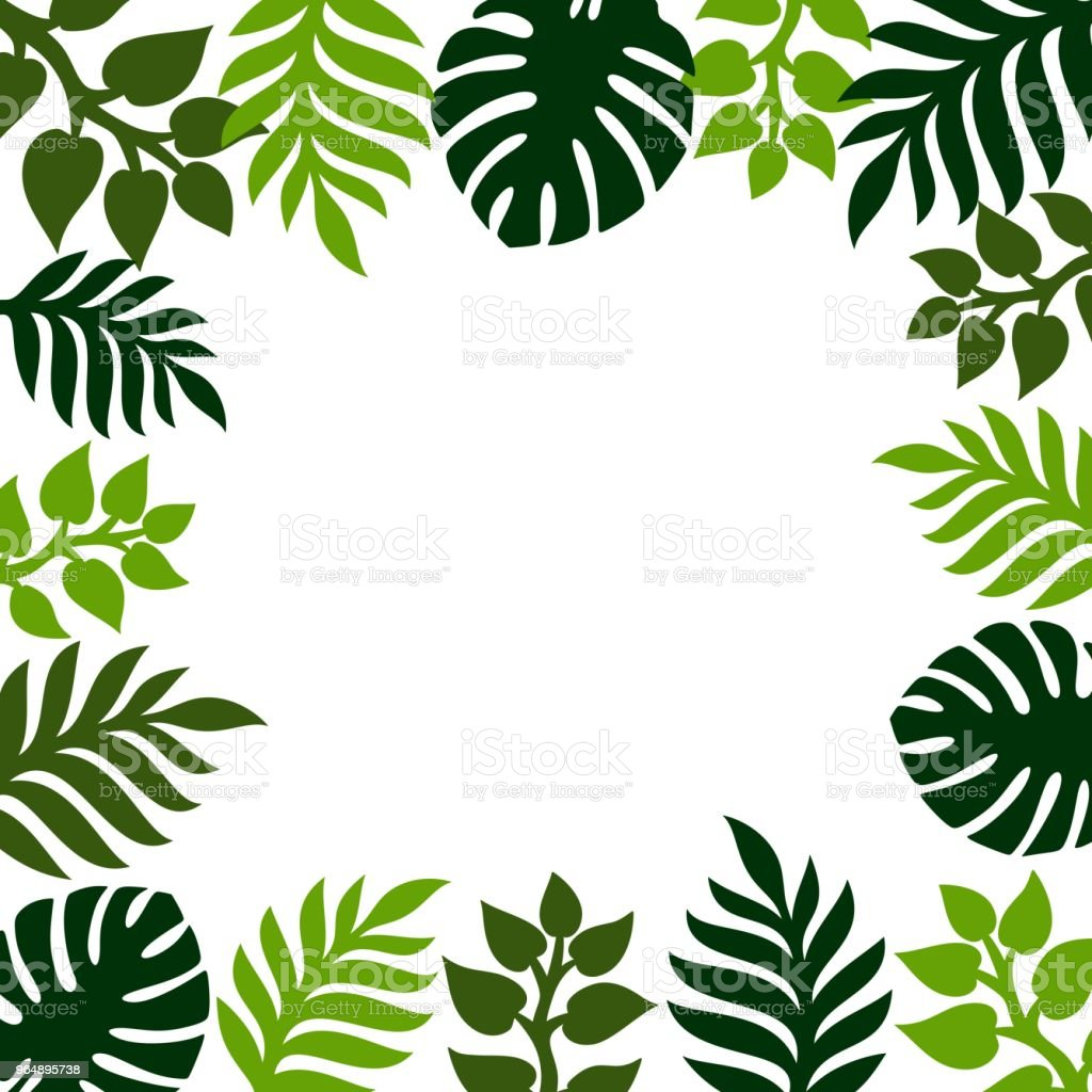 Summer tropical background with palm leaves. royalty-free summer tropical background with palm leaves stock vector art & more images of advertisement