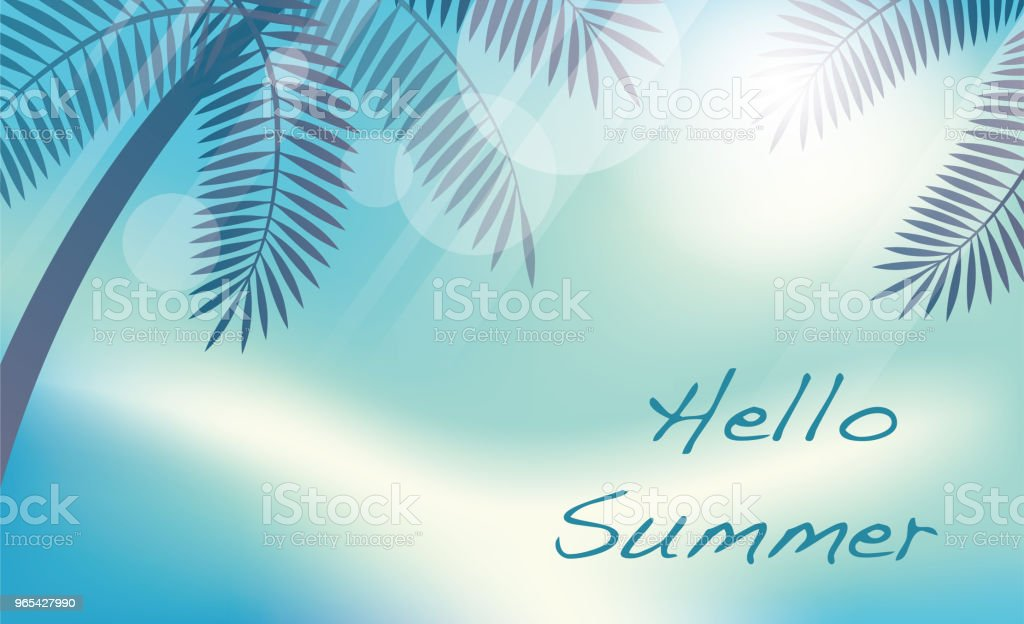 Summer tropical background with palms and text space. summer tropical background with palms and text space - stockowe grafiki wektorowe i więcej obrazów abstrakcja royalty-free