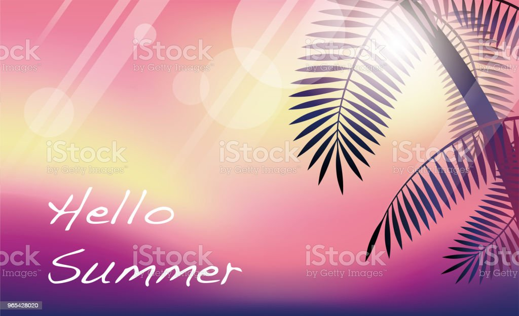 Summer tropical background with palms and text space. royalty-free summer tropical background with palms and text space stock illustration - download image now