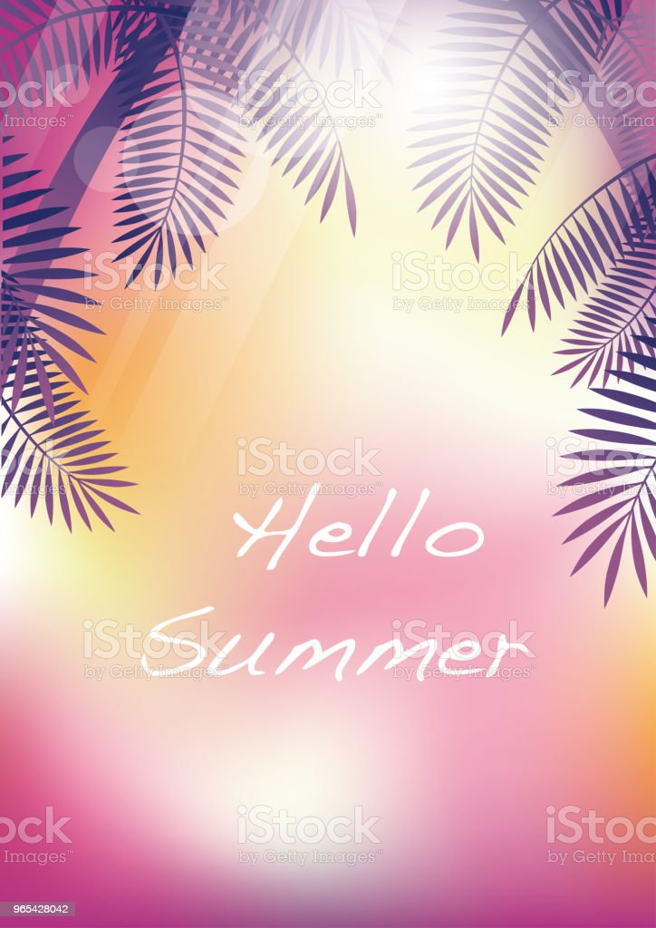 Summer tropical background with palms and text space. royalty-free summer tropical background with palms and text space stock vector art & more images of abstract
