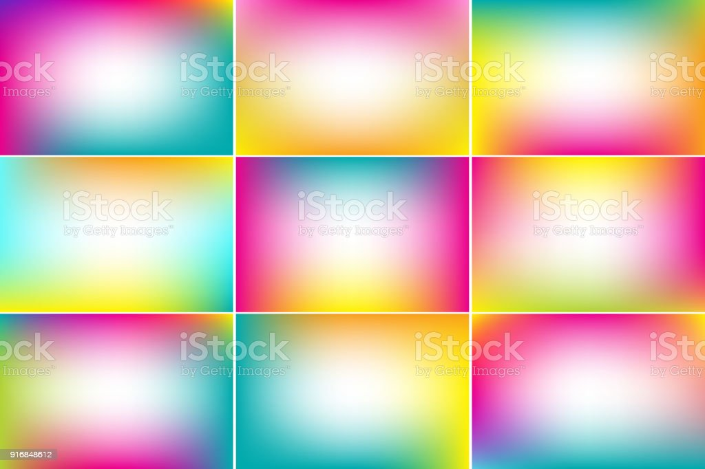 Summer tropical banners. Gradient vector backgrounds collection vector art illustration