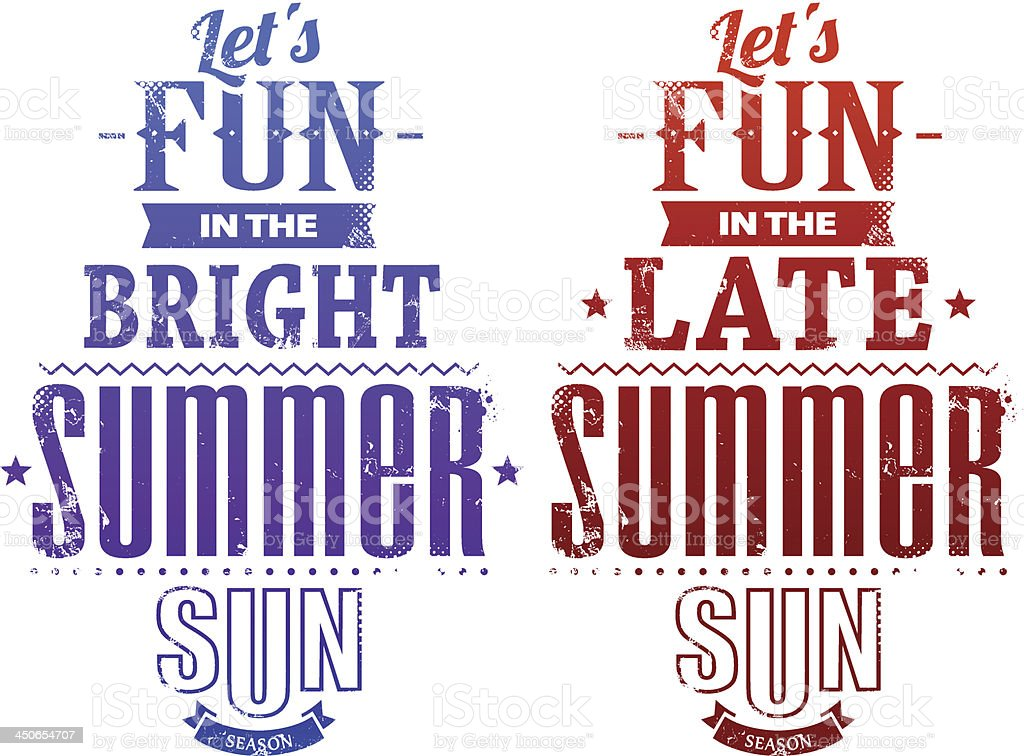 Summer typography royalty-free stock vector art