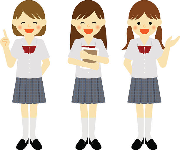 Best School Girl Uniform Illustrations, Royalty-Free ...