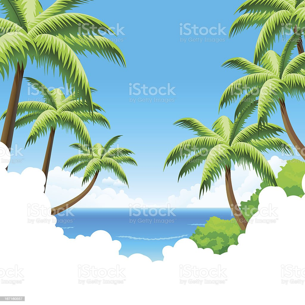 Summer Vacation Background royalty-free stock vector art