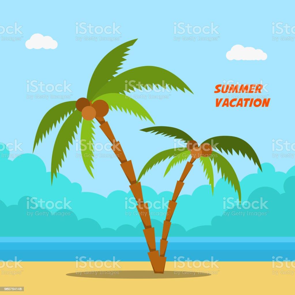 Ilustración De Vacaciones De Verano Banners De Estilo Dibujos