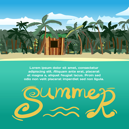 Summer vacation concept background with space for text