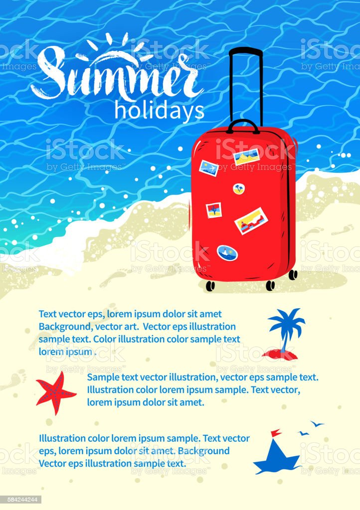 summer vacation flyer design stock vector art more images of