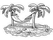 Summer Vacation Hammock Palm Beach Drawing