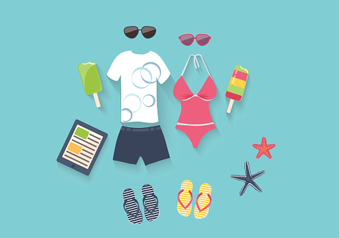 Summer vacation set of icons