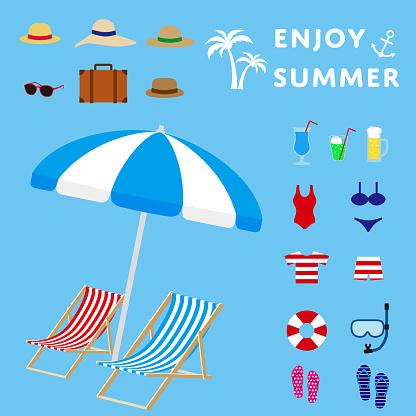 Summer Vacation Simple vector Illustration