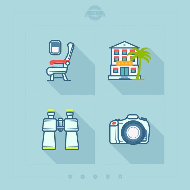 summer vacation - airplane seat stock illustrations