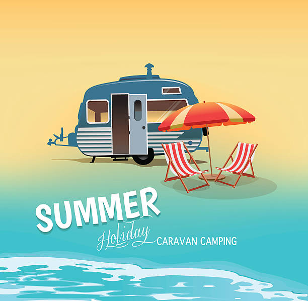 illustrations, cliparts, dessins animés et icônes de vacances d'été  - transat