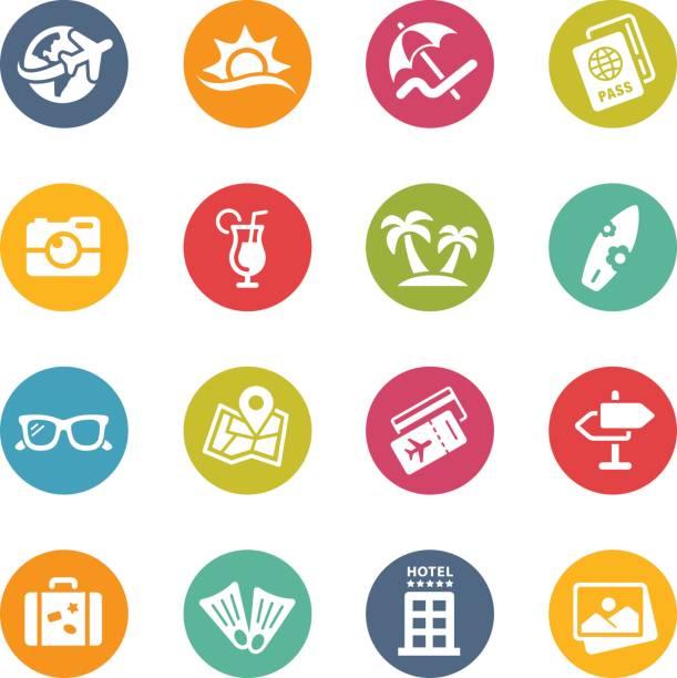 夏の休暇//新鮮な色 - 旅行代理店点のイラスト素材/クリップアート素材/マンガ素材/アイコン素材