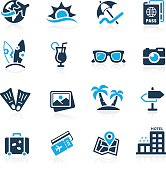 Summer Vacations Icons // Azure Series