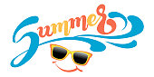 Summer vector banner for your design.