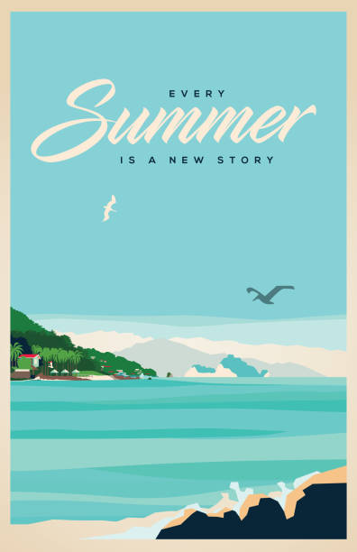 summer - poster stock illustrations