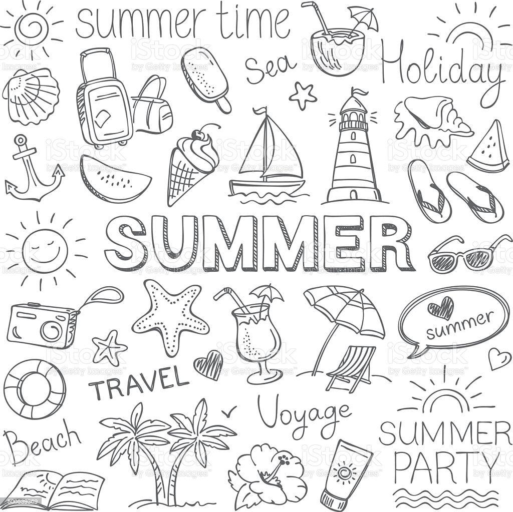 summer stock illustration image now istock