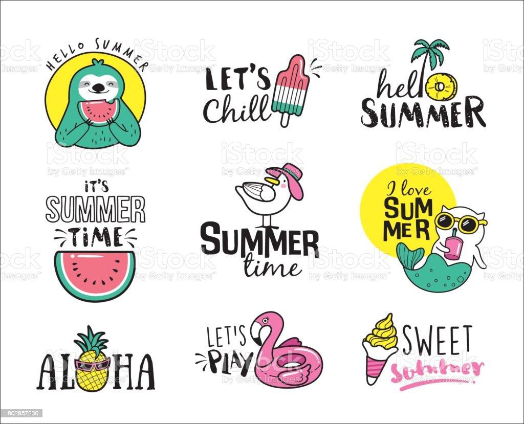 Summer - illustrazione arte vettoriale