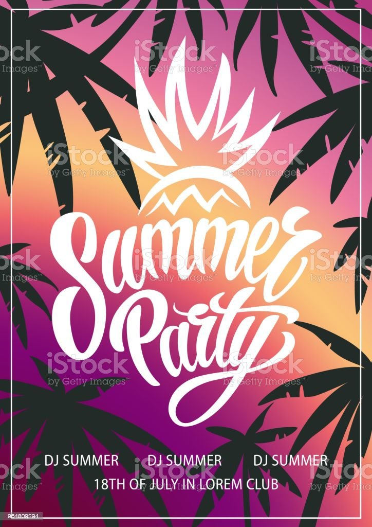 Summer vector party poster royalty-free summer vector party poster stock vector art & more images of abstract