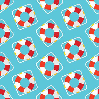 Summer vector seamless pattern. Marine