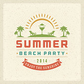 Summer vector typography poster design