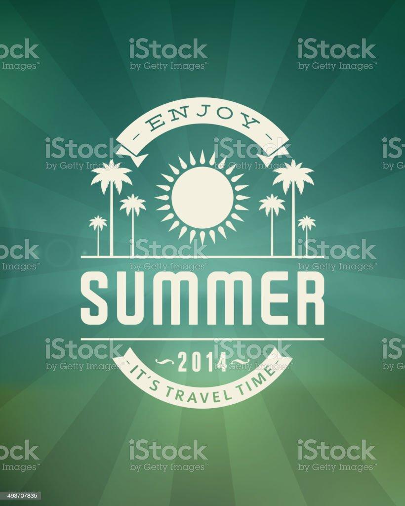 Summer vector typography vector art illustration