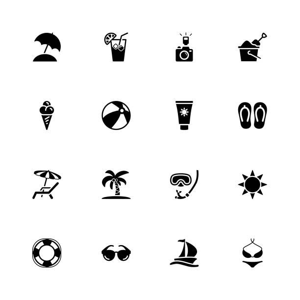 illustrazioni stock, clip art, cartoni animati e icone di tendenza di summer vector - immerse in the stars