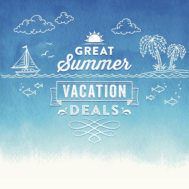 夏の水彩のサイン - 夏点のイラスト素材/クリップアート素材/マンガ素材/アイコン素材