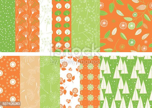 istock Summer Weeds Seamless Pattern 537406083