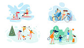 istock Summer Weekend on River Whole Family Vector Flat 1140015842