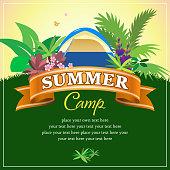 Summer camp. EPS10.