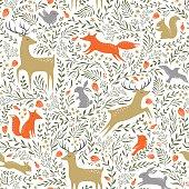 istock Summer woodland pattern 518385954