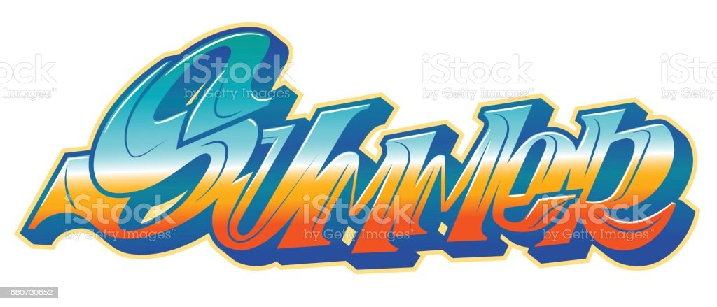 summer word in graffiti style しぶきのベクターアート素材や画像を