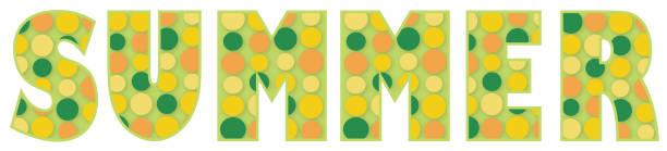ilustraciones, imágenes clip art, dibujos animados e iconos de stock de palabra de verano - tipos de letra de burbujas