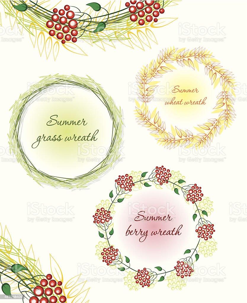 Summer wreath. royalty-free stock vector art