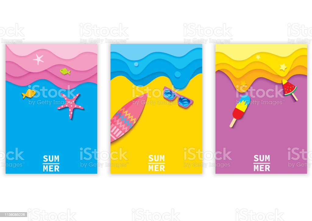summer-background-set royalty-free summerbackgroundset stock illustration - download image now