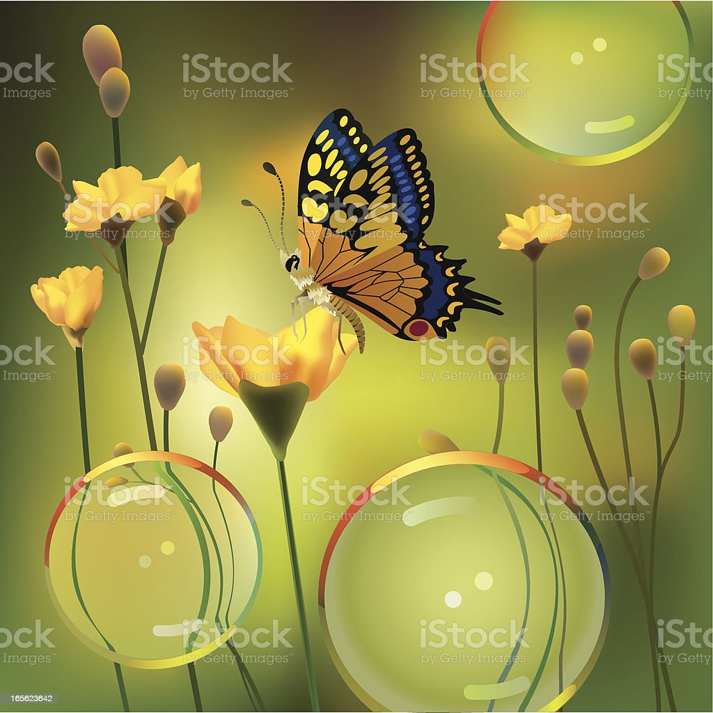 Summer's Butterfly royalty-free stock vector art