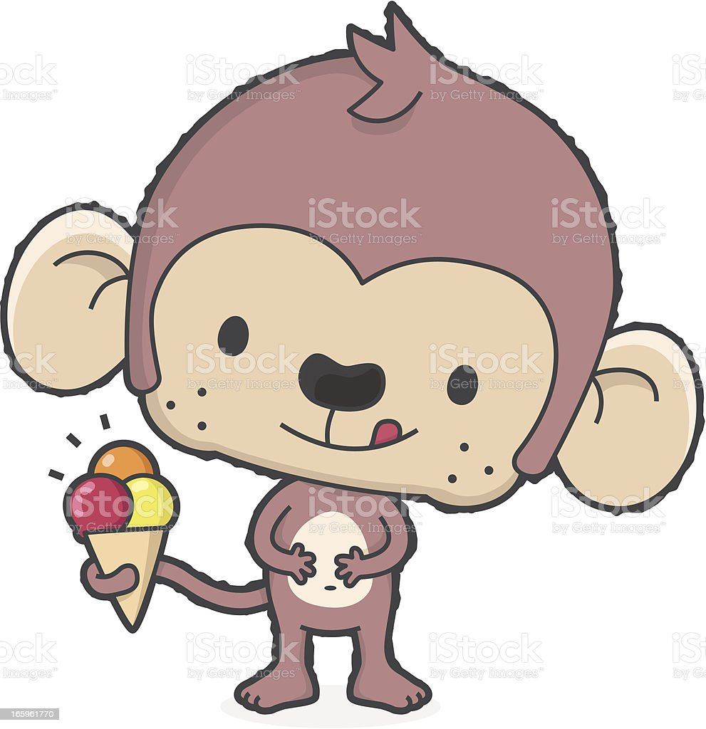 'summertime' cartoon monkey with ice cream in summer royalty-free summertime cartoon monkey with ice cream in summer stock vector art & more images of animal