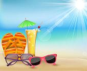 Summertime in beach