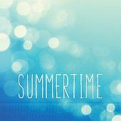 Summertime Stock Vector Background Word Blue Sky Text Alphabet