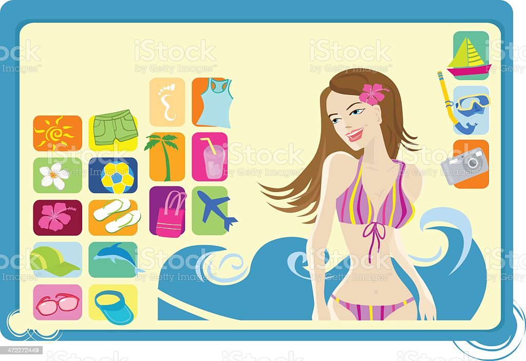 summertime royalty-free stock vector art
