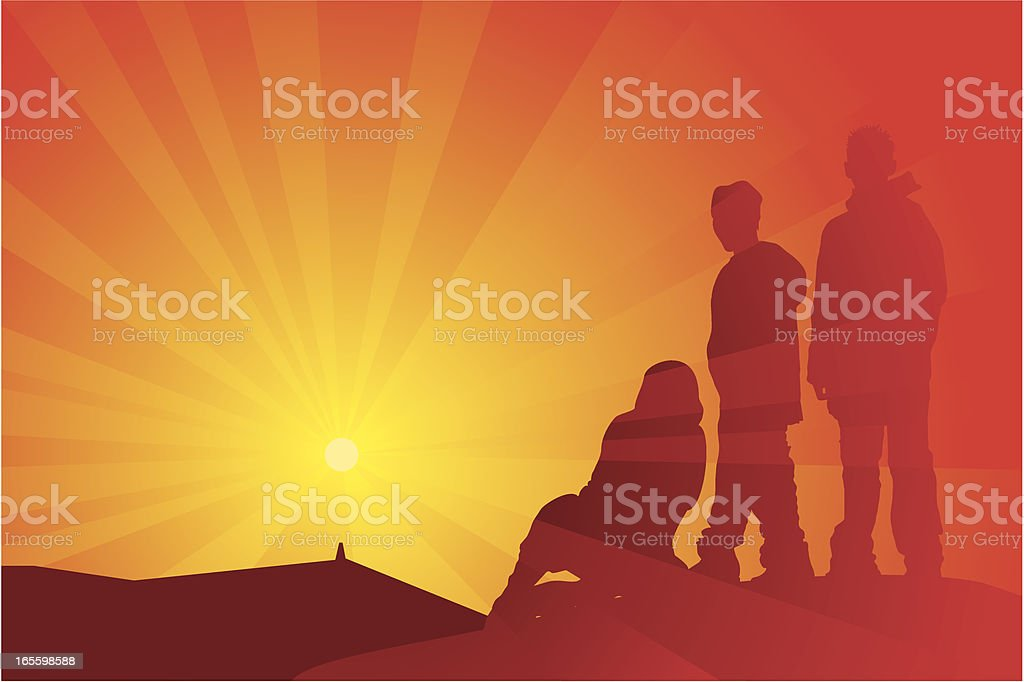 Summit Sunset royalty-free summit sunset stock vector art & more images of achievement