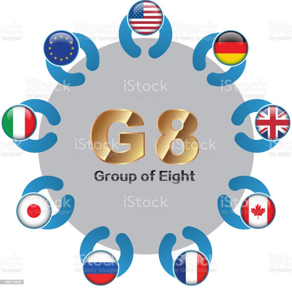 G8 summit vector art illustration