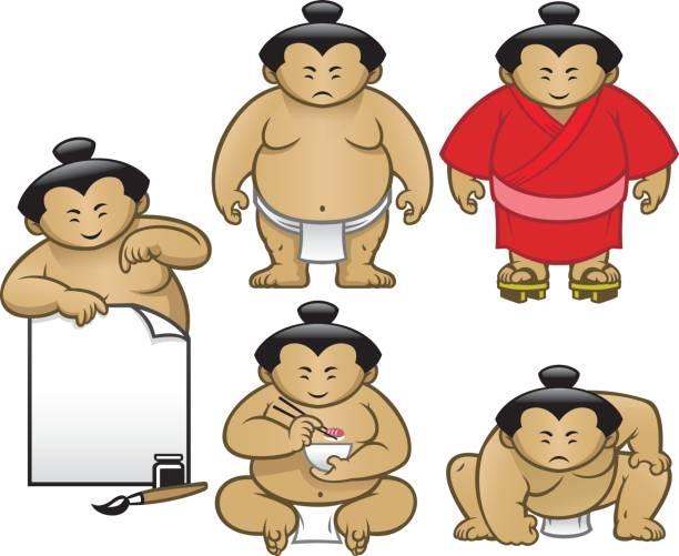 sumo sammlung zeichensatz - sumo stock-grafiken, -clipart, -cartoons und -symbole