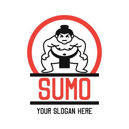 sumo insignia, vector illustration