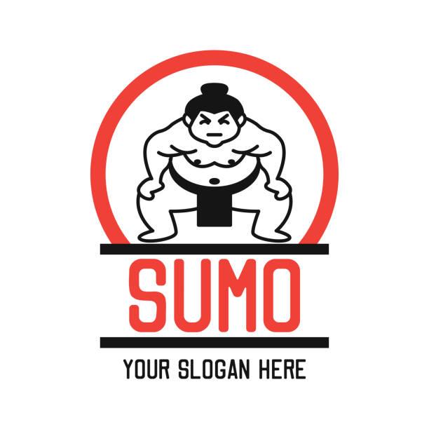 sumo insignien, vektor-illustration - sumo stock-grafiken, -clipart, -cartoons und -symbole