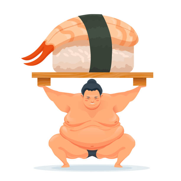 sumo-man-holding-a-tray-with-sushi-with-