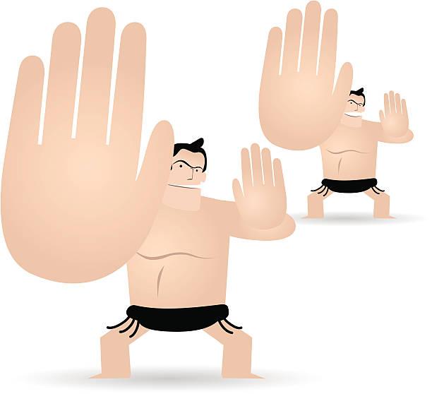sumo (japanische traditionelle spiel - sumo stock-grafiken, -clipart, -cartoons und -symbole