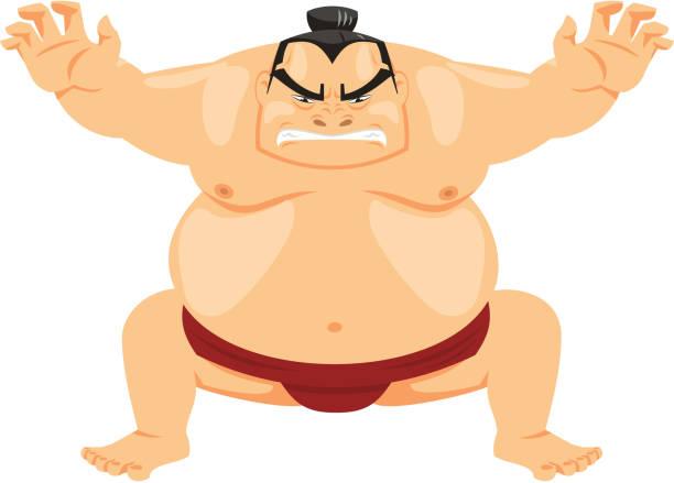 sumo-wrestler japanischen kampfkunst - sumo stock-grafiken, -clipart, -cartoons und -symbole