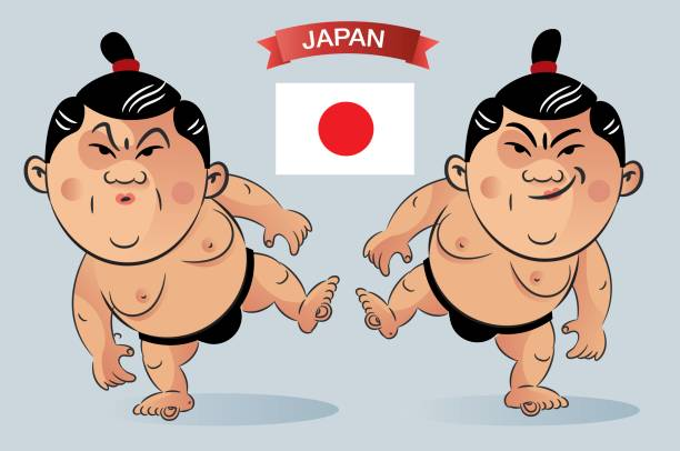 sumo-wrestler - sumo stock-grafiken, -clipart, -cartoons und -symbole
